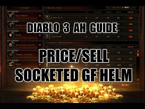 Diablo 3 - AH Guide - Price/Sell GF Helmets w/Socket