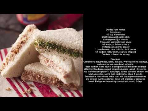 Ham Recipes - Deviled Ham