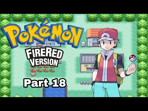 Pokemon Fire Red | Saffron City Gym, Sabrina Gym Battle | Part 18