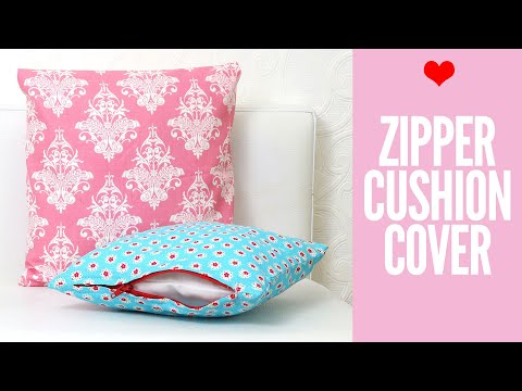 Zippered Cushion Covers for Beginners | Easy Tutorial