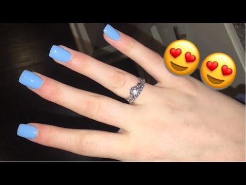 acrylic nail vlog :)