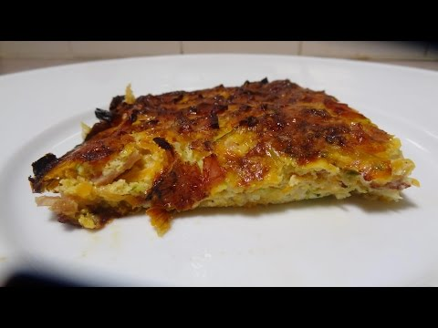 EASY Gluten Free Vegetable and Bacon Slice