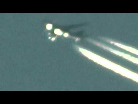 fake plane lights up like a Christmas tree 13 Jan 2014