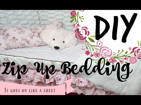 DIY Zip up bedding! ( goes on like a sheet)