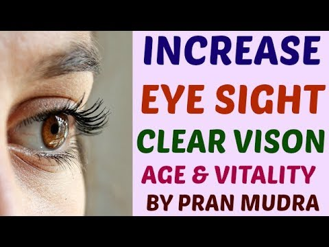 How to Increase Eye Sight Power Clear Vision & Remove Spectacles Naturally by Practice of Pran Mudra
