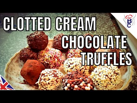 Clotted Cream Truffles Recipe  - Chocolate Truffle Recipe - How to Make Truffles