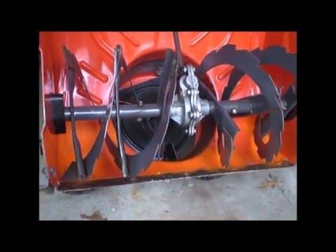 Snower Blower Scraper Blade  Repair