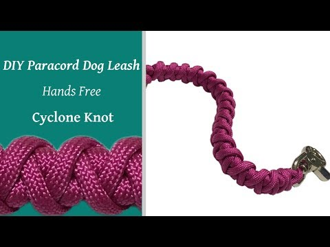 DIY - Hands Free - Paracord Dog Leash - Cyclone Knot