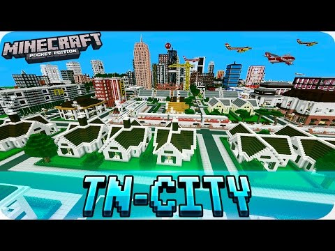 Minecraft PE Maps - Huge TN CITY Map With Download - MCPE 1.0 / 1.0.0