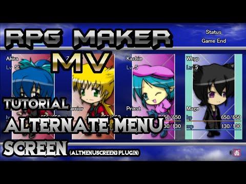 RPG Maker MV Tutorial: Alternate Menu Screen! (AltMenuScreen3 Plugin) -  playithub com