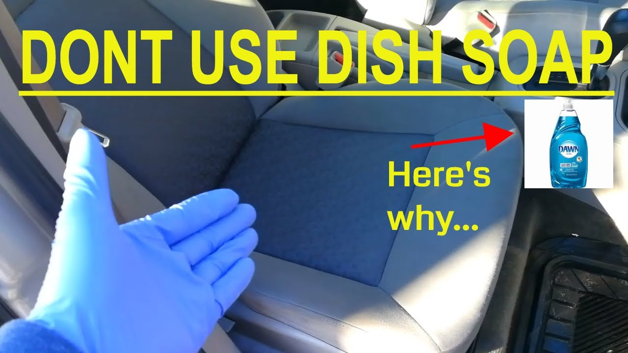 How to Clean cloth car seats at HOME! (Without Extractor)