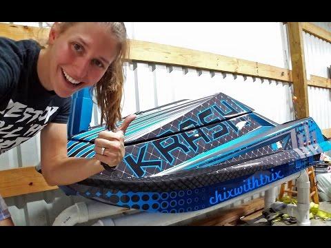 ChixSki: Krash 50 Cal Flatwater Freestyle Build - Part 1: Arrival & Unboxing