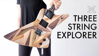 Making a Three String Explorer - Cigar Box STYLE Guitar Build