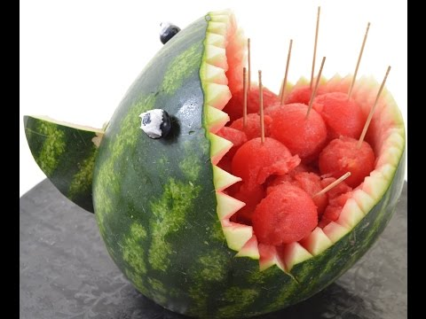 Curving a Watermelon into Scary Shark