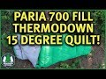 Thermodown 15 Degree Quilt Full Review Paria Outdoor Products