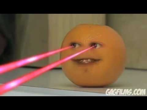 Annoying Orange with laser eyes