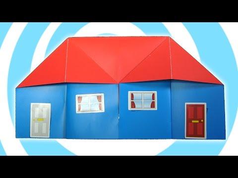 Easy origami house tutorial