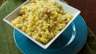 Rice Kesari bath Recipe (Sweet Saffron Rice - ಅನ್ನದ ಕೇಸರಿ ಬಾತ್)
