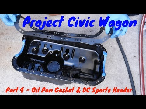 How to Replace Oil Pan Gasket & DC Sports Header - 1991 Honda Civic Wagon