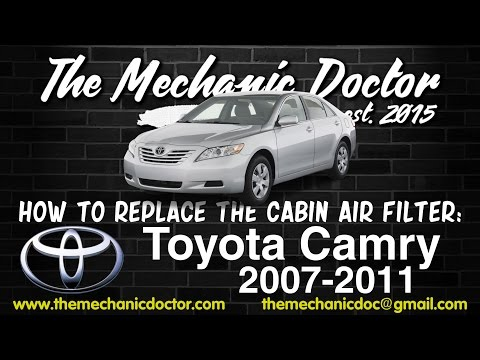 How to Replace the Cabin Air Filter : Toyota Camry 2007, 2008, 2009, 2010, 2011