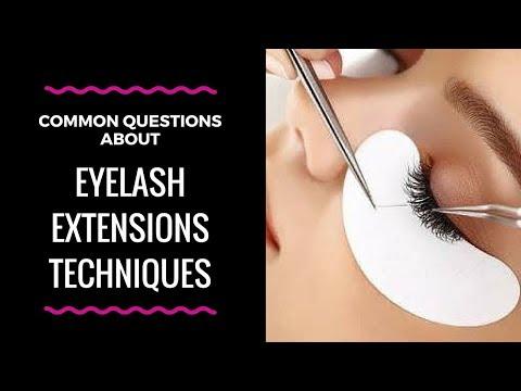 Common Eyelash Extension Techniques Questions