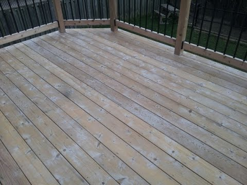 Cedar Deck in Ontario with fuzziness after cleaning - Part1