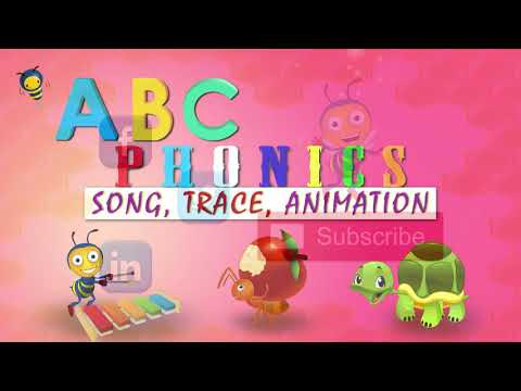 Phonics Song , trace words & animation ABC Alphabet Songs with kids alphabet rhymes forChildren