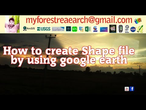 How to create shape file by using google earth