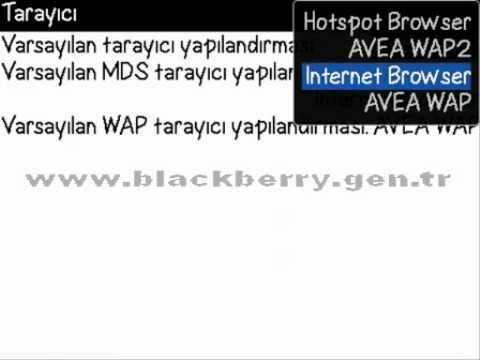 Blackberry Internet Ayarlari