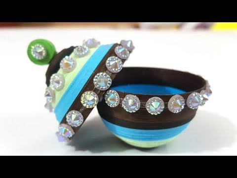 How to make a 3d quilling jewelry Box