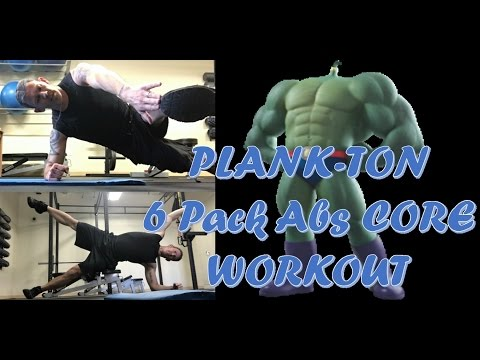ALL NEW PLANK-TON 6 Pack Abs Workout:  Fitness Over 40