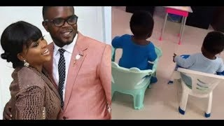Actress Funke Akindele Finally shows off her twin boys, & Celebrate her step son birthday In Style