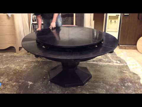 Dining Table with expandable interior leaves: Solid Walnut.MOV