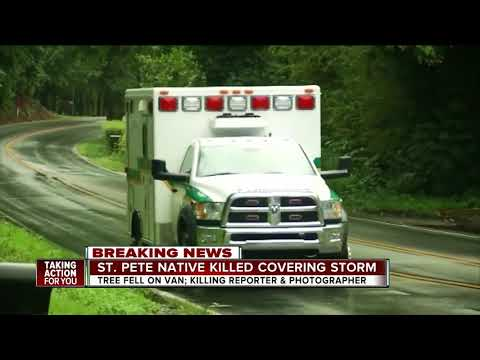 Journalist from Florida, photographer killed after tree falls on news vehicle