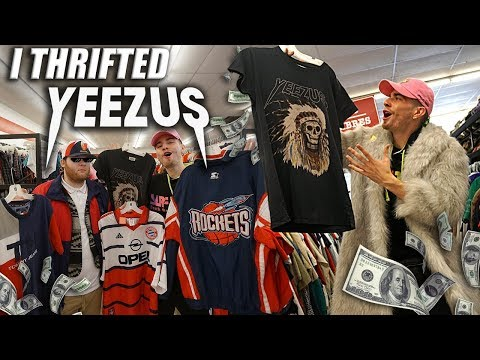 I THRIFTED YEEZUS MERCH! Trip to the Thrift #217
