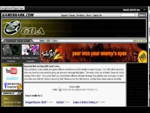How to put cheats on gba emulator ..wmv