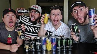 BLIND ENERGY DRINK TASTE TEST CHALLENGE!!