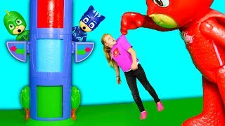 PJ Masks Transforming Tower Shrinks the Assistant with Paw Patrol