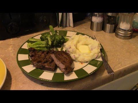 Marinated top round steak