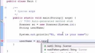 Java Programming Ep  3: Strings & Scanner Input - PakVim net HD