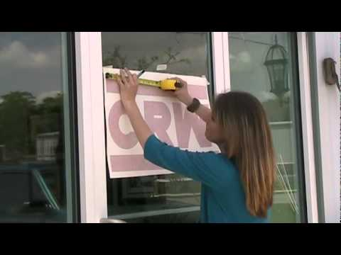Window Lettering (www.BestBuySigns.com) Applying Vinyl Lettering to a Glass Door