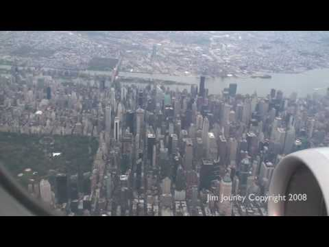 Landing New York LGA - GREAT View of Manhattan