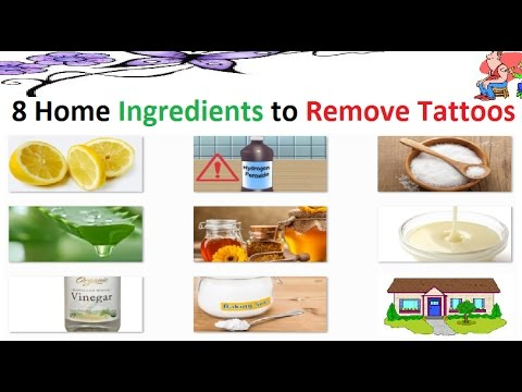 8 Home Remedy Ingredients to Remove your Tattoos