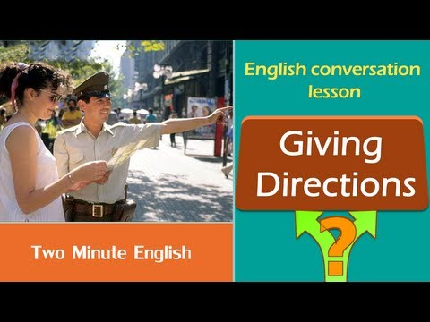 Giving Directions - Learn How to Give Directions in English - Speak English Fluently Tutorials