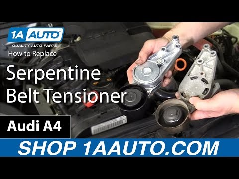 How to Install Replace Serpentine Belt Tensioner 2005-08 Audi A4 2.0L