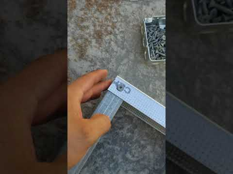 Cool trick helping put together bbq island