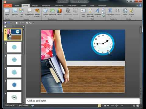 Adding A Clock Animation to your Power Point Slides