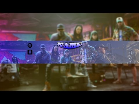 free watch dogs 2 template banner photoshop