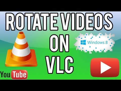 How to ROTATE VIDEOS on VLC media player & SAVE - Easy, Simple TUTORIAL