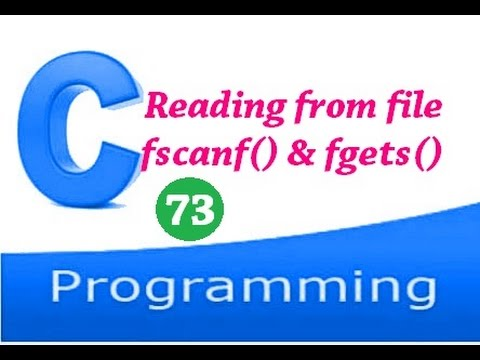 C programming video tutorial - How to read files